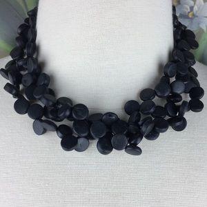 New York & Co Multi Strand Beaded Collar Necklace